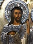 Иоан Креститель и Св. Муч. Нажежда. 84. Огненое золочение. 31 х 27 см. Ємали., фото №13