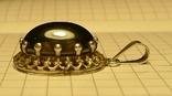 Старый немецкий кулон 835 проба с чёрным камнем., фото №7