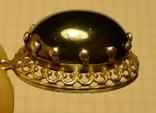 Старый немецкий кулон 835 проба с чёрным камнем., фото №9