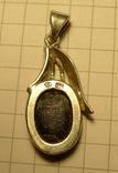 Кулон ручной работы 925 пробы с зелёным камнем. Клеймо., фото №8