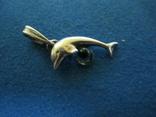 Кулон дельфин серебро., фото №3