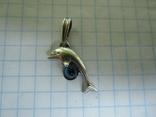 Кулон дельфин серебро., фото №7