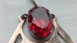 2601 кулон подвеска ссср серебро 875 позолота большой камень в центре, фото №4