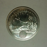 Серебряная монета, Испания,  132 ГОДОВЩИНА ПЕСЕТЫ, фото №3