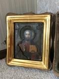 Икона Господь Вседержитель . Размер без киота 17.5 х 14 см, фото №4