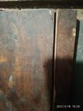 Икона Пантелеймона, левкас, остатки позолоты, печать монастыря, фото №7