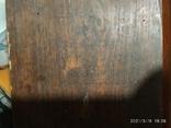 Икона Пантелеймона, левкас, остатки позолоты, печать монастыря, фото №8