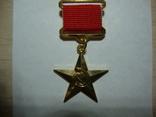 Золотая звезда СССР Герой Социалистического труда копия, фото №2