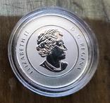 Канада 20 долларов 2012 г. Серебро. Фото через капсулу. Прощание с центом, фото №3