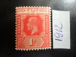 Британские колонии. Фиджи. 1912 г. МН, фото №2