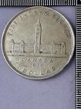 1 доллар, Канада, король Георг VI, 1939 г., серебро, 0.800, 23.33 гр., юбилейная, фото №3