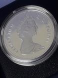 1 доллар, Канада, 1981 год, 100 лет Трансконтинентальной железной дороге, серебро, фото №5