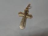 Крестик золото 585 пробы,вес 3,8 грамм, фото №2