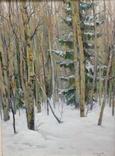 Всесоюзная художественная лотерея Зима в лесу 1966 год Сысоев Н.А., фото №6