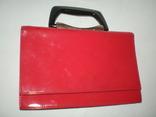 Сумочка бізнес-леді з червоної лакованої штучної шкіри. 70-80 роки ХХ ст., фото №2