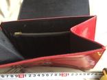 Сумочка бізнес-леді з червоної лакованої штучної шкіри. 70-80 роки ХХ ст., фото №6