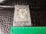 Икона. Богородица. Казанская Б. М. Серебро 925 прб., фото №3