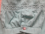 Женская бирюзовая рубаха. Кружево, крючёк. Charles Vogelr. Индия, фото №4