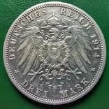 3 марки Анхальд 1914 г., фото №3