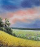 Картина, Рідні небо та земля, 25х30 см. Живопис на полотні, фото №3