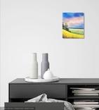 Картина, Рідні небо та земля, 25х30 см. Живопис на полотні, фото №7