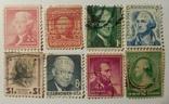 Марки США (8шт) Президенты, фото №2