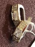 Серьги . Серебро и золото. Новые, фото №2