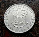 20 центов ЮАР 1964 состояние серебро, фото №5