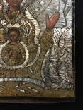 """Икона шитая """"Богородица Знамение"""" в киоте 27 на 20, фото №8"""