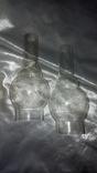 Керосиновая лампа +стеклянная колба ,жёлтое стекло СССР, фото №4