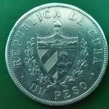 Песо Куба 1915 г.серебро, фото №3