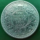 Рупия 1917 г.серебро, фото №3
