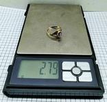 Кольцо с аметистом, серебро 925 звезда, позолота. СССР., фото №7