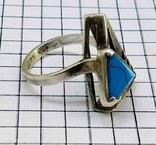 Перстень Серебро 875, бирюза. 4.70 грамм, фото №2