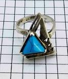 Перстень Серебро 875, бирюза. 4.70 грамм, фото №4