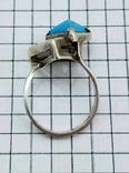 Перстень Серебро 875, бирюза. 4.70 грамм, фото №9