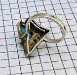 Перстень Серебро 875, бирюза. 4.70 грамм, фото №11