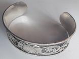 Браслет/обруч с орнаментом-оберегом, медь/серебрение., фото №5