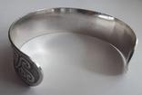 Браслет/обруч с орнаментом-оберегом, медь/серебрение., фото №7