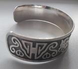 Браслет/обруч с орнаментом-оберегом, медь/серебрение., фото №8