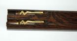 Набор ш.ручка и цанг.карандаш в деревянном футляре, фото №3