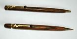 Набор ш.ручка и цанг.карандаш в деревянном футляре, фото №6