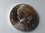 США 1 доллар 1974 S Эйзенхауэр / серебро, фото №5
