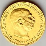 20 крон (рестрайк) 1915. Австро-Венгрия (золото 900, вес 6,78 г), фото №4