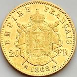 20 франков. 1868. Наполеон III. Франция (золото 900, вес 6,46 г), фото №12