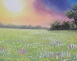 Картина, Фарби літнього вечора, 25х30 см. Живопис на полотні, фото №4