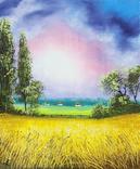 Картина, Теплий дощ, 25х30 см. Живопис на полотні, фото №2