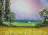 Картина, Теплий дощ, 25х30 см. Живопис на полотні, фото №4