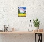 Картина, Теплий дощ, 25х30 см. Живопис на полотні, фото №5