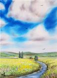 Картина, Знайома далечінь, 15х20 см. Живопис на полотні, фото №2